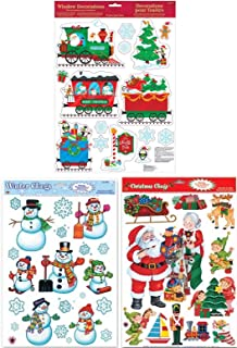 Best large window christmas cling ons Reviews
