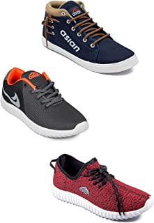 Asian Men's Casual Shoes Combo Pack of 3-0301-M596