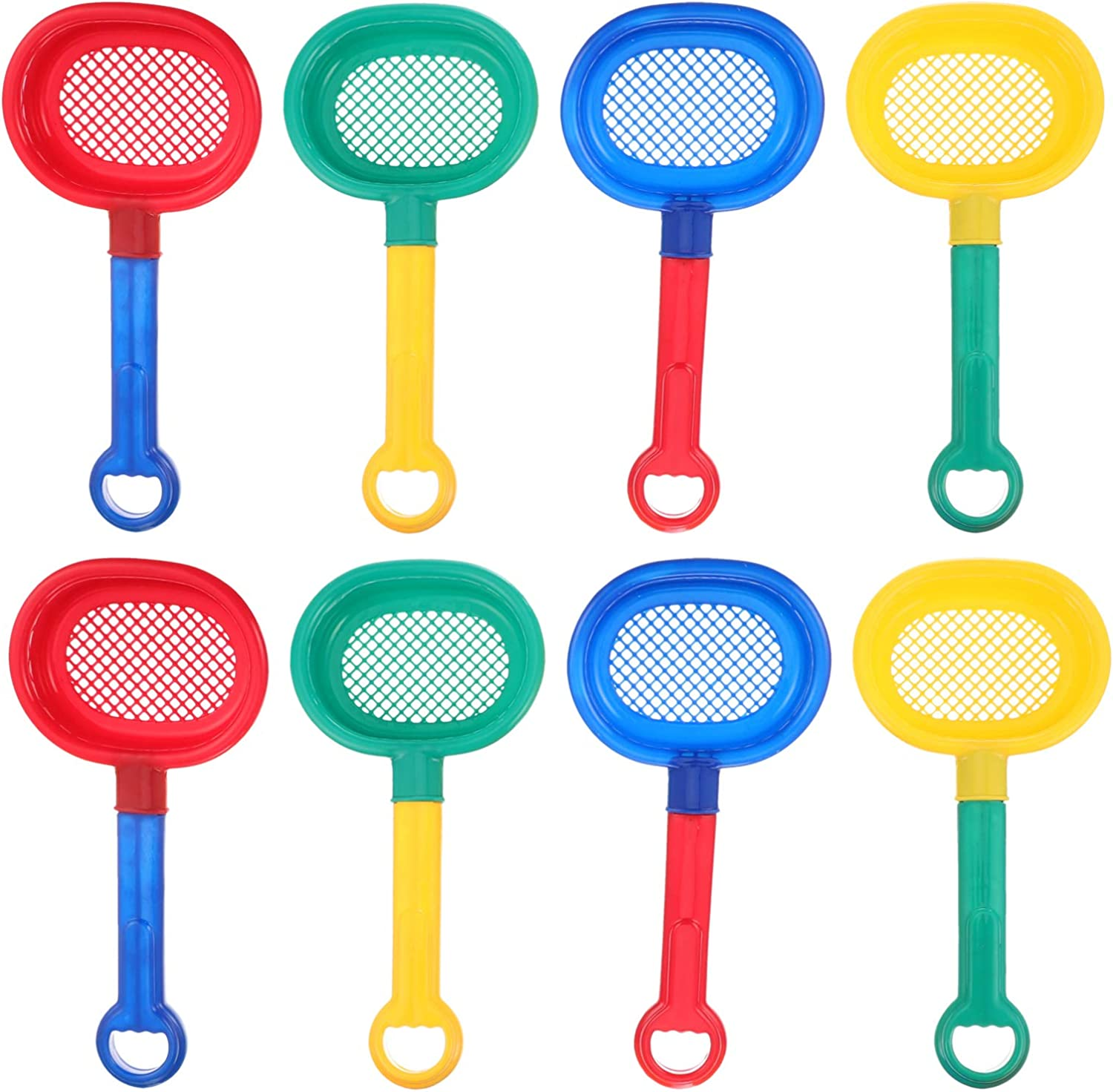 TOYANDONA 8pcs Popular overseas Plastic excellence Sand Sifter Kids Shovels for Sieves