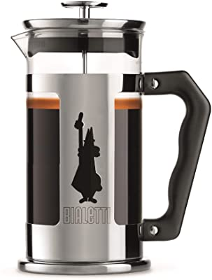 Bialetti French Press Coffee Maker, 8 Cup, Preziosa Stainless Steel