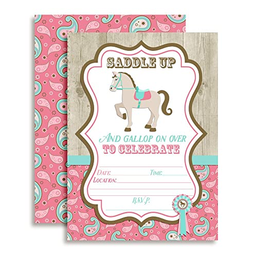 Pony Party Birthday Invitation Amazon