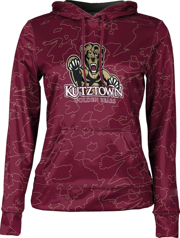 ProSphere Kutztown University Girls' Pullover Hoodie, School Spirit Sweatshirt (Topography)