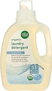 Whole Foods Market, Organic Laundry Detergent (33 HE Loads), Unscented, 50 Fl Oz
