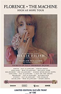 A-ONE POSTERS Rare Poster Thick Florence & The Machine high as Hope 2018 Billie eilish Tour Reprint #'d/100!! 12x18