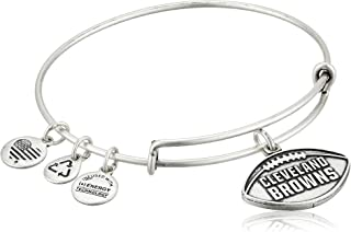 Alex and Ani Womens NFL Cleveland Browns Football Bangle