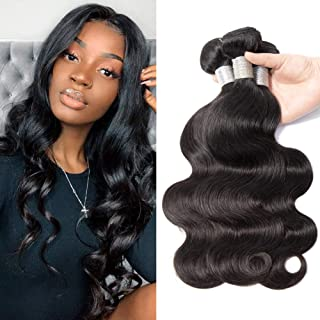 Prom Rosa Brazilian Virgin Hair Body Wave 3 Bundles Remy Human Hair Extensions 100% Unprocessed Virgin Hair Weaves Natural Black 22 24 26 inches