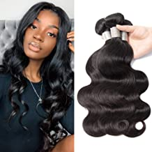 Prom Rosa 10A Brazilian Body Wave Hair 3 Bundles 300g 20 22 24inch 100% Unprocessed Brazilian Human Hair Body Wave Weave Remy Hair Extensions Natural Black Color
