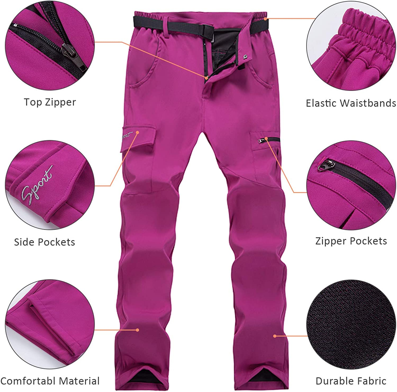 LHHMZ Pantalones de Senderismo para Mujer Ligero Transpirable Pantalones Deportivos Casuales al Aire Libre Caminar Escalada Trekking Pantalones