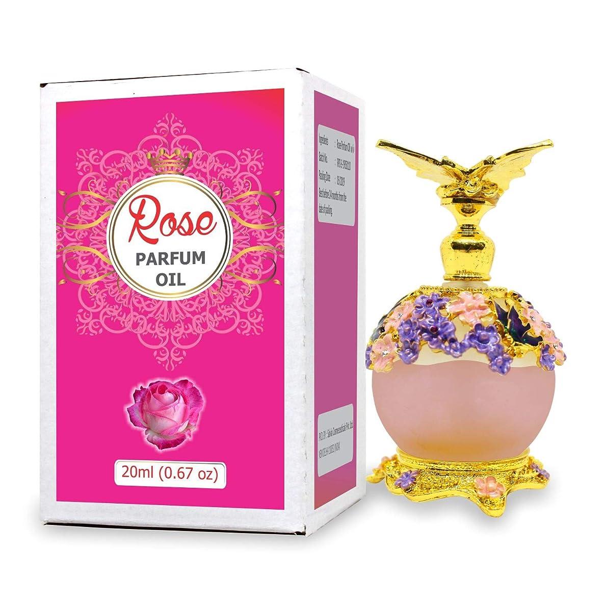 溶接図大惨事Rose Parfum Oil - Alcohol Free Perfume Oil - Long Lasting Fragrance For Women - 20 ML