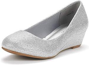 Women's Wide Width Silver Shoes Size 10