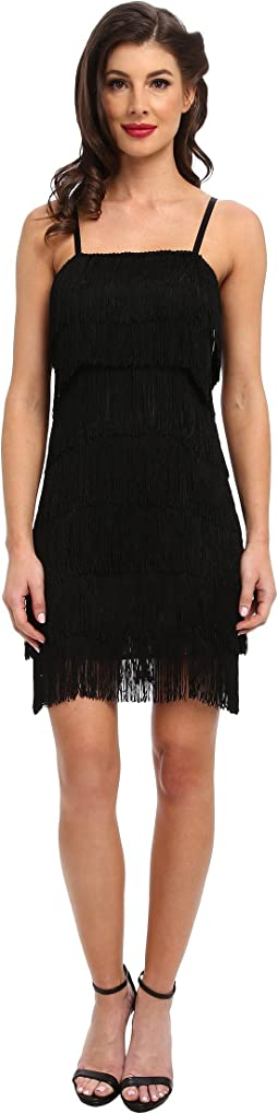 Unique Vintage Fringe Flapper Dress