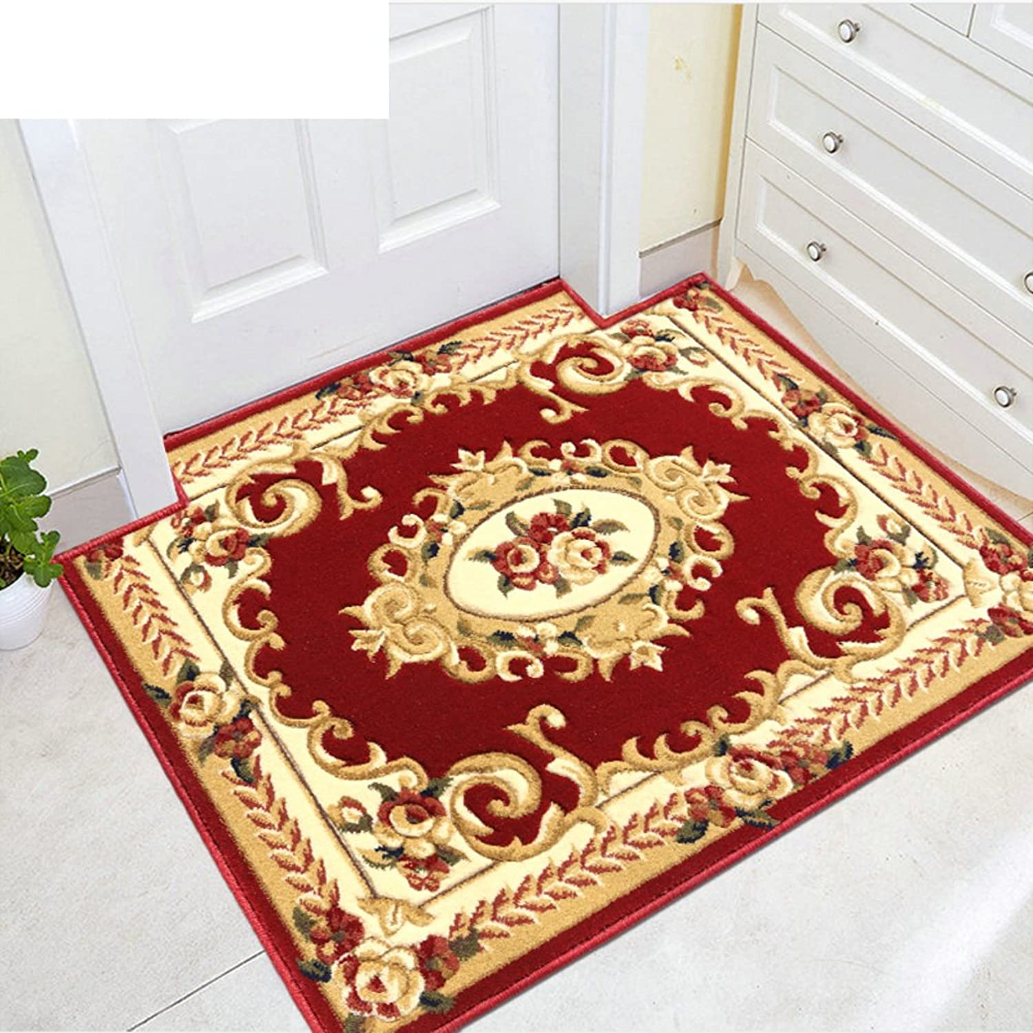 Rectangle,European Style,Indoor Mats Mat Into The Doorway Mats Mats in The Hall-A 80x120cm(31x47inch)