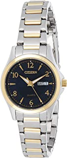 CITIZEN Womens Quartz Watch, Analog Display and Stainless Steel Strap - EQ0595-55L