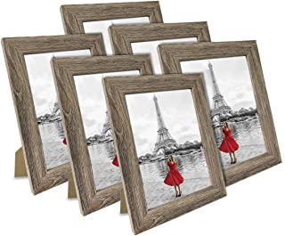 NUOLAN 4x6 Picture Frame Rustic Gray Wood Pattern Art Photo Frames 6 Packs for Wall or Tabletop Display (NL-PF4X6-RG)
