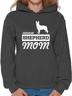 Women's German Shepherd Mom Graphic Hoodie Tops Dog Lover