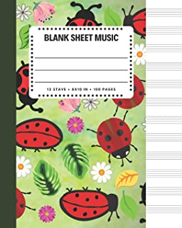 Blank Sheet Music: Little Ladybug Cover 8x10