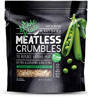 Meatless Crumbles, Soy Free, Non-GMO, Vegan, 45g Protein, 0g Net Carb, Plant-Based Vegan Meat Substitute, Made in USA, TVP...