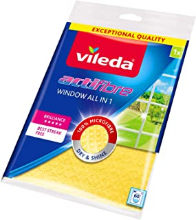 Vileda Actifibre Cloth for Cleaning Glass – Yellow