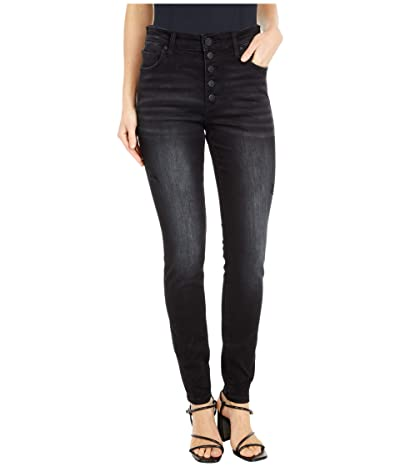KUT from the Kloth Mia High-Rise Skinny Button Fly in Enthused (Enthused Wash) Women