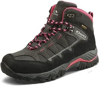 Clorts Women's Mid Waterproof Hiking Boot Suede Leather Hiker Lightweight Outdoor Backpacking Shoe
