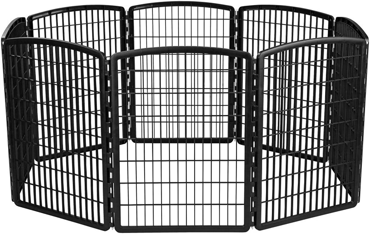 IRIS 34'' Exercise 8Panel Pet Playpen without Door, Black