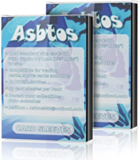 [ 2021 Upgraded ] Asbtos 100 PCS Soft Trading Card Proctective Sleeves, Standard Size Penny Sleeve, Trading Card Sleeves f...
