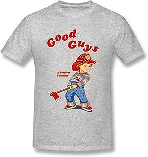 AVBER Good Gu-ys Fire-Man Ch-ucky de Short Sleeve Cotton Tee for Men