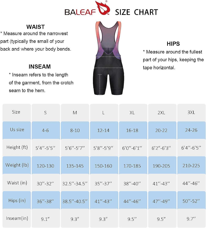 BALEAF Mens Cycling Bib Shorts 4D Padded Road Bike Shorts with Pockets Biking Tights Breathable UPF50+