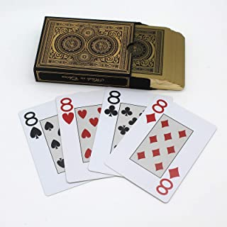Gold-Plating Edge Design Plastic PVC Waterproof Poker Gold Baccarat Texas Holdem Playing Cards Novelty Collection Durable Playing Cards