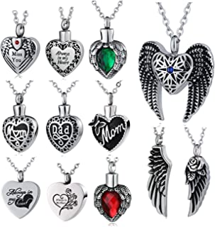 Beydodo Heart Pendants Silver Wedding Necklace Brides Heart Paw Prints Round Cubic Zirconia