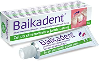 BAIKADENT - 15 G -gel - is a gel for application to gums in case of periodontal diseases. Indications for application: in supportive treatment of superficial and deep periodontopathies in prophylaxis
