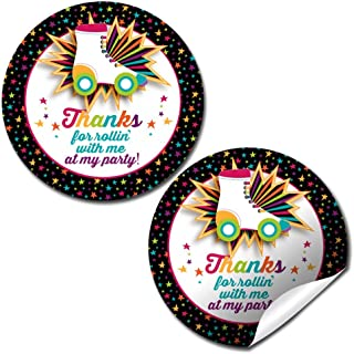 Roller Skating Birthday Party Thank You Sticker Labels, 40 2