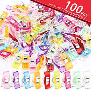 Bestsupplier 100 Pcs Sewing Clips for Quilting Crafting (Assorted Color)