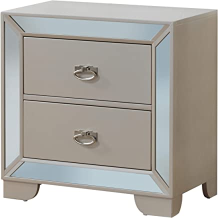 Glory Furniture G8100-N 3 Drawer Nightstand,  Pearl