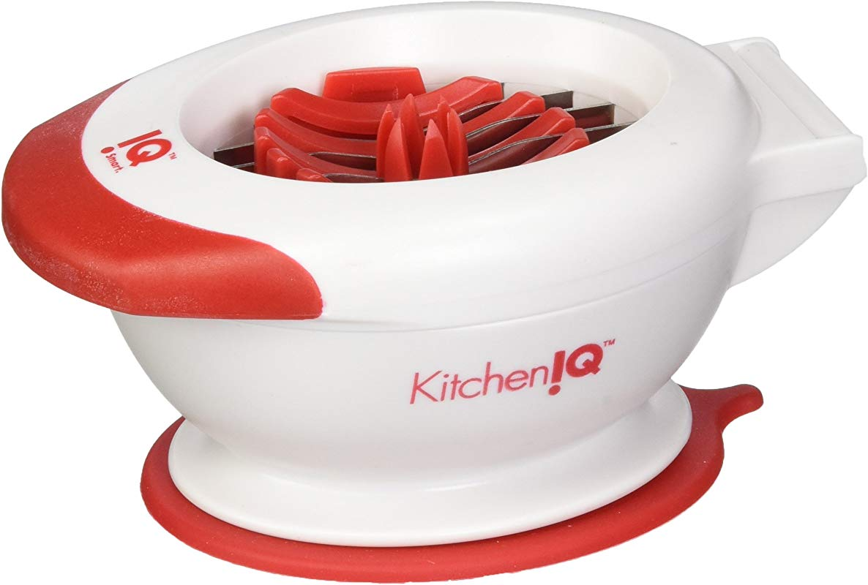 KitchenIQ Strawberry Tool White Red