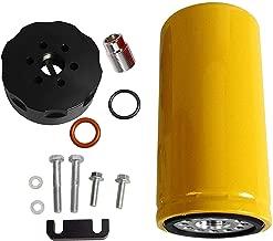 BLACKHORSE-RACING Diesel Coolant Filtration System Fuel Filter Adapter Kit for 2001-2016 GM 6.6L Duramax LB7/LLY/LBZ/LMM/LML