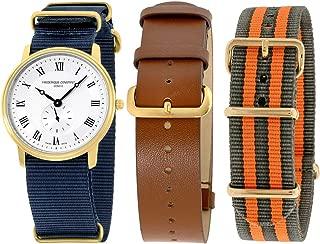 Frederique Constant Slimline Quartz Movement Silver Dial Men's Watch FC-235M4S5-GROSET2