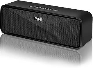 Enceinte Bluetooth Portable Haut-Parleur Bluetooth 5.0 sans Fil 12 Heures Autonomie Stéréo HD Microphone Intégré Port Aux/USB/SD Mains-Libres Compatible avec Téléphone Android iOS et Tablettes-Noir