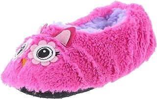 Girl Slipper Socks Pink Owl M/L 13-4 B(M) US Girl/Big Kid Size