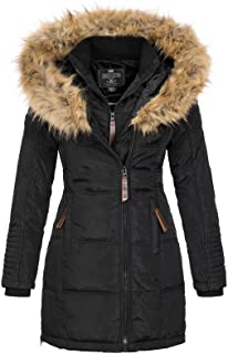 comprar comparacion Geographical Norway Belissima - Chaqueta de invierno para mujer con capucha de piel XL