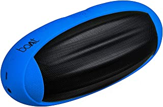 (Renewed) Boat Rugby Portable Bluetooth Speaker (Blue)
