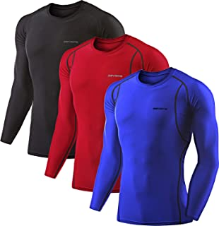 2~3 Pack Men's Athletic Long Sleeve Compression Shirts