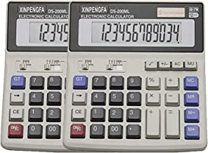 XINPENGFA Desktop Office Calculator 12 Digit Display and Big Button, Basic Business Calculator(Pack of 2) photo