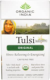 Organic India Tulsi Tea Original Tea Bags, 18 Count (Pack of 6)