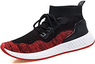 TERIAU Men's Running Shoes Ultra Llight Fly Mesh Breathable Casual Fashion Sports Sneakers