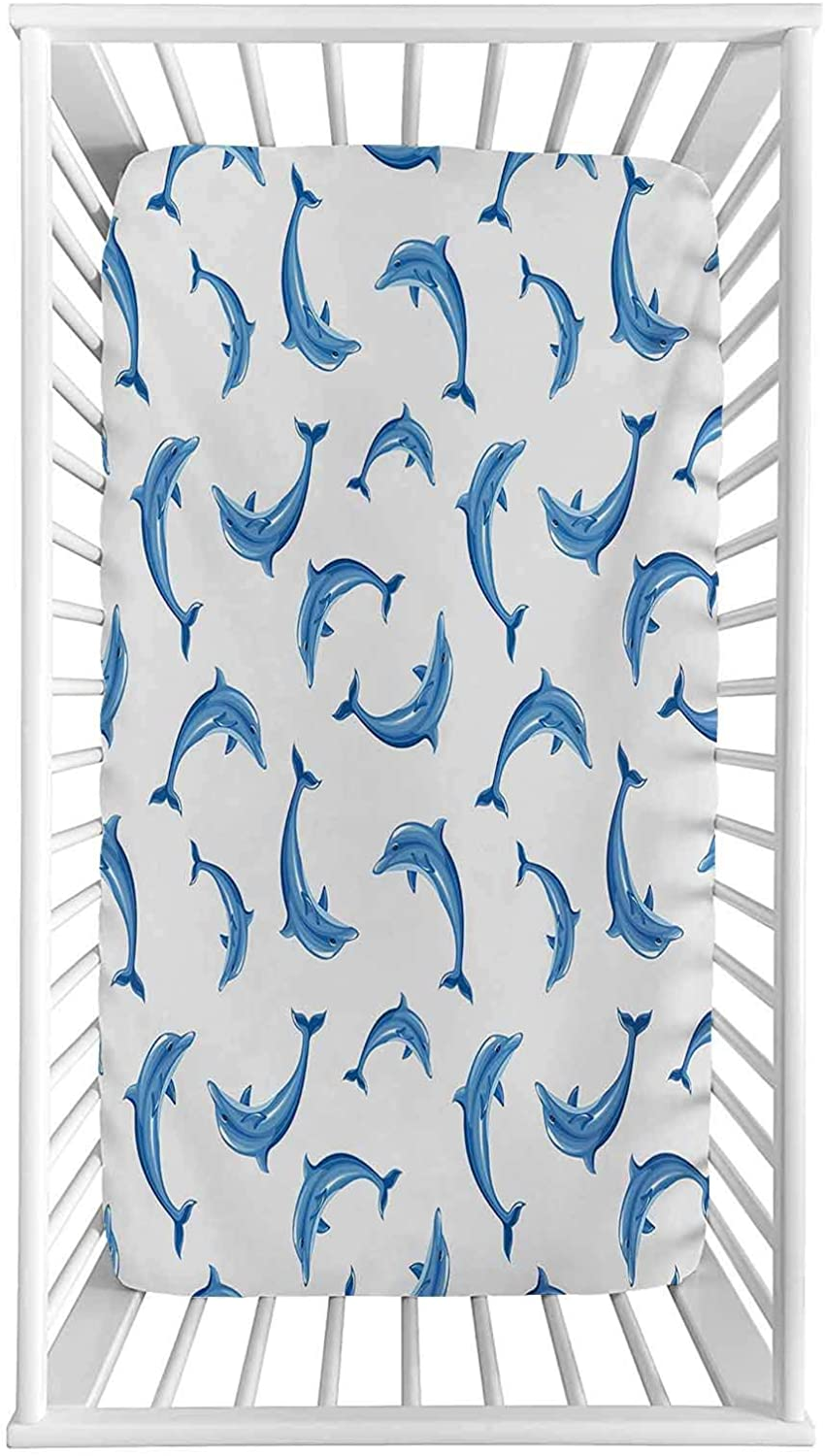 Sea famous Animals Fitted Crib Sheet with Illustration Pattern ...