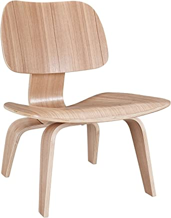 Modway EEI-510-NAT Fathom Mid-Century Modern Molded Plywood Lounge Accent Chair Natural