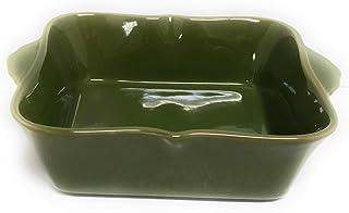 Temp-tations Bella 8x8 Brownie Baker 1.5 Qt Square Casserole Dish Replacement (Green)