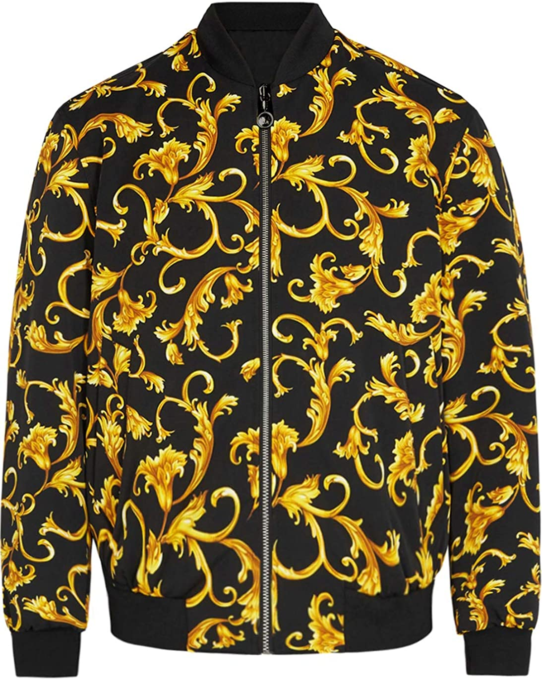 Daupanzees Mens All Virginia Beach Mall Over Fashion Print Open Luxury Design Front Large discharge sale