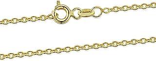 Joyería Collar en Oro Amarillo 9K - Cadena Belcher 1.4 mm - Gargantilla Ajustable de 46 a 51 cm